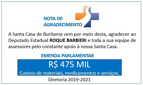 Emenda Parlamentar – 475 mil